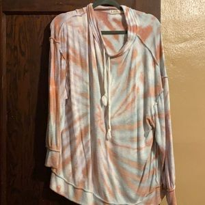 Long sleeve free people tie-dyed shirt